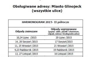 Harmonogram Glinojeck